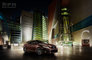 CGI, CT, Fluorescent light, Lexus, __unsorted_keywords, architecture, artificial light, automotive, bodystyle, car, cars, city, class, compact, connotations, cool, environment, exterior, graphic, hatchback, illumination, location, manufacturer, night, outdoors, shortback, skyscrapers, urban, when, world market center