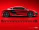 CGI, R8 V8, R8V8, __unsorted_keywords, advertising, audi, automotive, car, cars, class, colors, environment, indoors, location, manufacturer, red, red background, red varnish, sportcar, sports car, sports-car, studio, super car, varnish