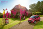 CGI, England, Ka, Type, __unsorted_keywords, ad, advertising, automotive, backlit, car, cars, colorful, colors, connotations, countryside, crazy, driveway, ford, funny, grass, lawn, manufacturer, paint, park, pink, purple, saturated, season, summer, sunny