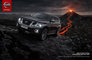 4x4, CGI, Comin, Patrol, SUV, __unsorted_keywords, ash, automotive, car, cars, class, clouds, dark grey, darkgrey varnish, environment, eruption, fire, lava, location, manufacturer, meteor, mountains, nature, nissan, outdoors, rocks, suv, tire, tracks, trail, tyre tracks, volcano