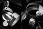 BW, Bataille de Fleurs, Black & White, Comin, Thomas Brown, Type, __unsorted_keywords, abstract, b&w, circle, clothing, construct, design, fashion, geometric, graphic, materials, pattern, perfume, still life, still-life, stilllife, studio, table top, tonal, wood