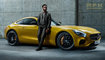 GT, Mercedes Benz, Tinie Tempah, __unsorted_keywords, adult, amg, artist, automotive, bodystyle, car, cars, celebrities, celebrity, class, colors, concrete, connotations, coupe, expensive, fashion, luxurious, luxury, male, man, manufacturer, materials, men, mercedes, motion, people, rapper, singer, sportcar, sports car, sports-car, static, studio, style, super car, varnish, yellow