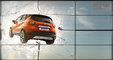 CGI, __unsorted_keywords, advertising, automotive, broken, car, display, environment, fly, frame, glass, in-situ, jump, location, materials, metal, nature, outdoors, shards, sky, skylight, window