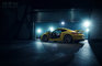 Cayman, Porsche, __unsorted_keywords, automotive, car, cars, cold tones, connotations, dark, lamps, light bulbs, manufacturer, moody, motorsport, night, nighttime, objects, racing, racing track, speed, sport car, sports, twilight, varnish, when, yellow