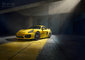 CGI, Cayman, Porsche, __unsorted_keywords, architecture, automotive, car, cars, class, concrete, detail, environment, front 3/4, illumination, indoors, interiors, location, manufacturer, natural light, sportcar, sports car, sports-car, studio, super car, varnish, yellow