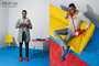 2016, blue, bright, colors, connotations, editorial, fashion, graphic, grooming, men, pop, red, spring, studio, yellow