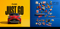 #2018, Aygo, CGI, Car, Toyota, advertising, car in studio, car parked, cgi car, cgi full, cgi object, day, daylight, fridge, front, hatchback, red car, shortback, yellow