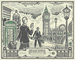 Tokyo, UK, United Kingdom, United States Bank Note, __unsorted_keywords, advertising, art, artistic, bill, collage, currency, dollar, london, money, nations, objects, one dollar, tourists