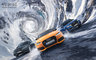 CGI, Transportation, __unsorted_keywords, alpine, alps, audi, automotive, car, cars, competition, creative, distorted, distortion, fantastical, forest, full cgi, holiday, landscape, manufacturer, mountains, road, seasonal, ski, snow, speed, spiral, sport, swirl, tarmac, trees, tunnel, weather conditions, winter