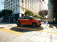 CGI, MY2015, Smart, Type, __unsorted_keywords, ad, advertising, automotive, bodystyle, buidings, car, cars, cross roads, environment, flare, forfour, hatchback, location, orange varnish, outdoors, road, shortback, sunlight, sunny