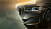 #2019, 7 series, AUTOMOTIVE, BMW, CGI, Car, Europe, Italy, advertising, atmospheric, car exterior detail, cgi car, cgi full, front threequarters, glow, grey car, laser, metallic car, saloon, sedan
